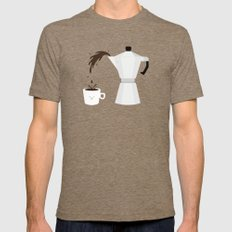 Espresso Time! Mens Fitted Tee Tri-Coffee SMALL