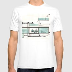 octopus architecture White Mens Fitted Tee SMALL