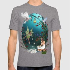 Fairy-tale stories Mens Fitted Tee Tri-Grey SMALL