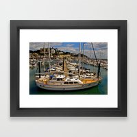 Boats at Torquay Harbour Framed Art Print