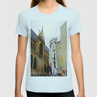 Paris….Shhhhh Womens Fitted Tee Light Blue SMALL