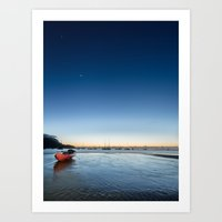 Saturn Sea Kayak Art Print