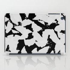 Black Bird Wings on Grey iPad Case