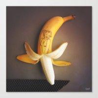 Marilyn Banana Canvas Print