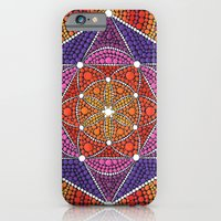 iPhone Cases featuring Fire Star by Elspeth McLean