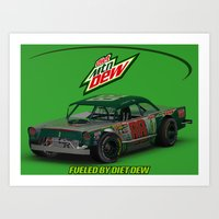 Old School #Earnhardt #8… Art Print