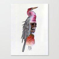 Skull Crane Canvas Print