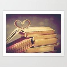 Vintage Book Love Art Print