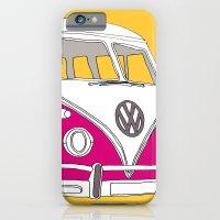 Retro Camper Van // Yellow and Pink iPhone 6 Slim Case