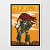 Machine Revolution Canvas Print