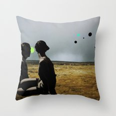 The Looking Field Throw Pillow