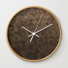 Antique Brass Camo Abstract Low Polygon Background Wall Clock