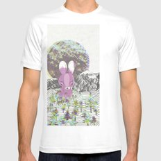 invisible forests Mens Fitted Tee SMALL White