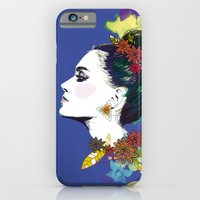 iPhone & iPod Case featuring Blue Bun  by Lorène Russo illustration