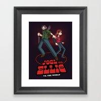 Joel And Ellie VS. The W… Framed Art Print