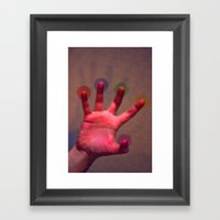 Your Hand, As The Creati… Framed Art Print