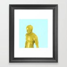 man of facets Framed Art Print