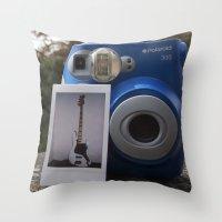 First Ever Polaroid Throw Pillow