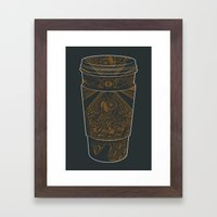 Inspired by Coffee Framed Art Print