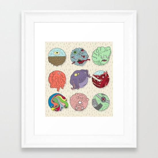 Monster Balls Framed Art Print