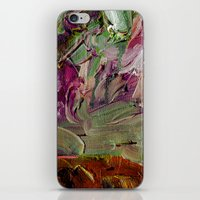 Abstract Purple Green Sk… iPhone & iPod Skin
