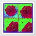 Raspberry Rose Quad Art Print