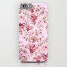 romantic pink roses Slim Case iPhone 6s