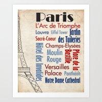 Travel - Paris Art Print