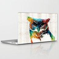 Colorful Owl Art - Wise … Laptop & iPad Skin