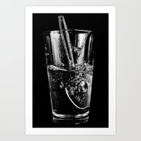Glass and Spoon Art Print