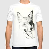 The Fox Mens Fitted Tee White SMALL