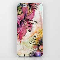 Flowerz iPhone & iPod Skin