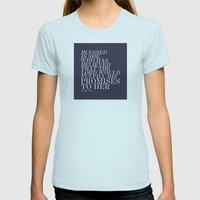 BELIEVE Womens Fitted Tee Light Blue SMALL
