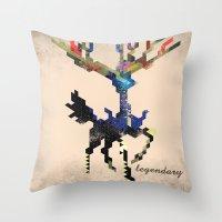 I Am Legendary X - Geometric Throw Pillow