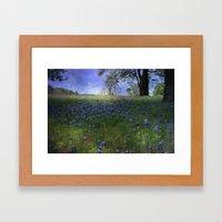 A field of Blue Framed Art Print