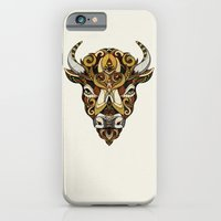 iPhone & iPod Case featuring Bison // Animal Poker by Andreas Preis