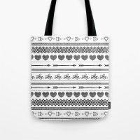 Love tribal pattern Tote Bag
