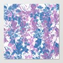 Elegant Painterly Floral Abstract Canvas Print