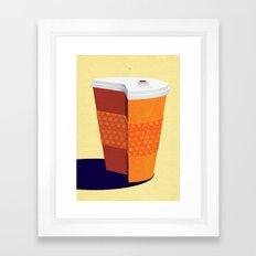 Cut down on Coffee Framed Art Print