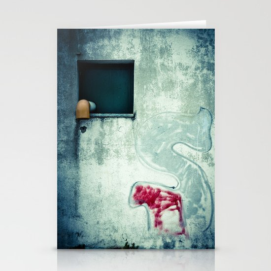 Big 'S' with window, pipe and red spray Stationery Card
