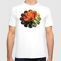 Glowing Poppy  Mens Fitted Tee White SMALL