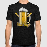 Beer Hugs Mens Fitted Tee Tri-Black SMALL