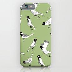 Bird Print - Olive Green iPhone 6s Slim Case
