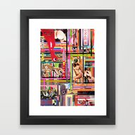Framed Art Print featuring Visual Sequence #034 by M A S A N O R I