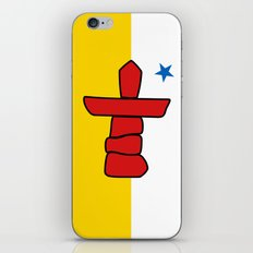 Flag of Nunavut - High quality authentic HD version iPhone & iPod Skin