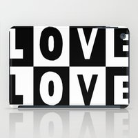 Love Black iPad Case