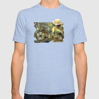 My Scooter Mens Fitted Tee Tri-Blue SMALL