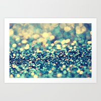 Blue And Silver - An Abs… Art Print