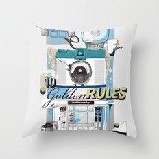Ten Golden Rules Throw Pillow