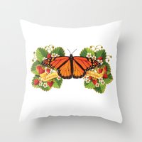 Monarch Butterfly With S… Throw Pillow